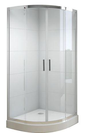 Kabina prysznicowa NIVO 100x100 z brodzikiem wysokim 11cm + syfon