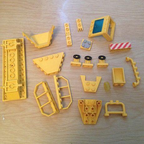 Lego części zamienne klocki remont dróg żółte specjalne barierki