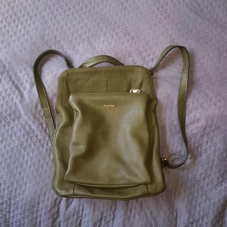 Torbo-plecak skórzany