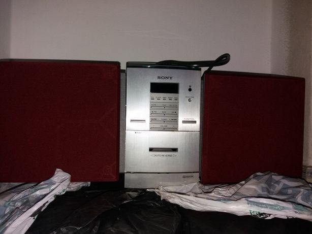 Aparelhagem Sony leitor cd e cassete