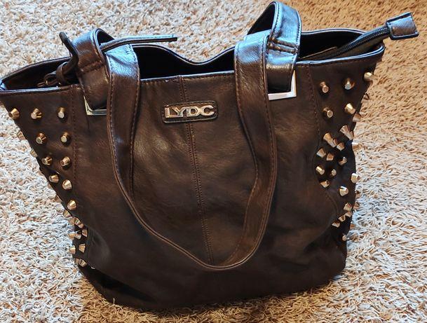 LYDC j. nowa torebka oryginalna ćwieki brązowa