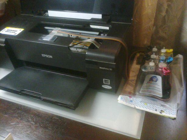 Принтер Epson Work Force 30 + СНПЧ  б/у в хорошем состоянии