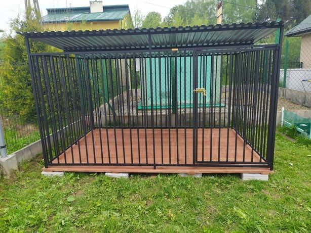 klatka kojec dla psa 3x2 z podłoga, buda, wiata i inne