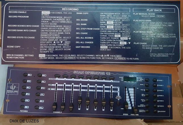 Dmx Dmx GLP - Scan operator 12 . DMX . DMX