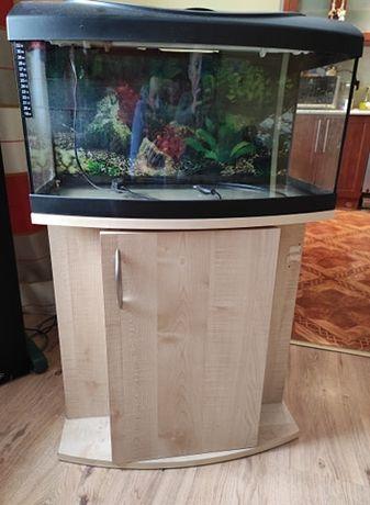 Akwarium 55 litrów z pokrywą z oświetleniem LED