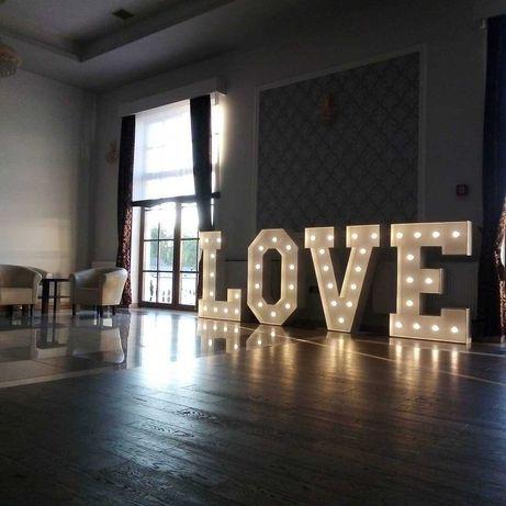 Napis litery LOVE duży 125 cm! wesele sesja zdjęciowa