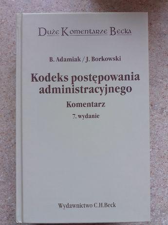 Książka kodeks postępowania administracyjnego.