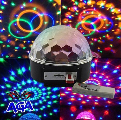 Kula Projektor DISCO Dyskoteka MP3 + PILOT+ Pendrive
