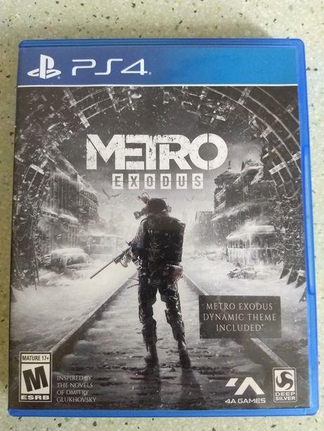 Диск Metro Exodus (Playstation 4) PS4 Метро Исход Русская версия