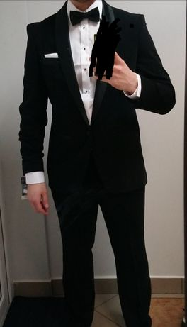 Smoking, garnitur ślubny L/XL 185-188 cm