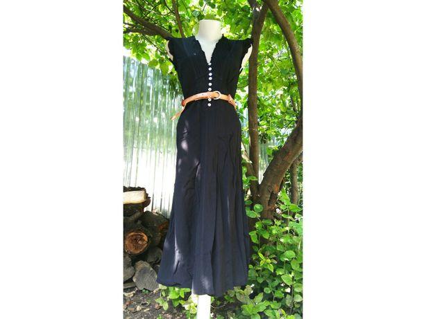 Англия миди платье винтажное ниже колена сарафан ретро сукня міді