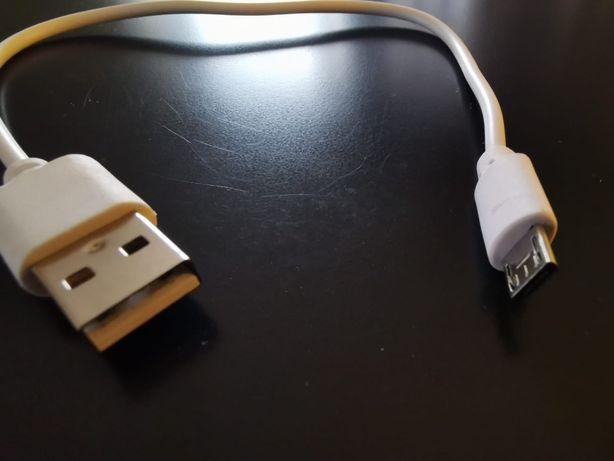 Krótki kabel micro USB biały 25cm