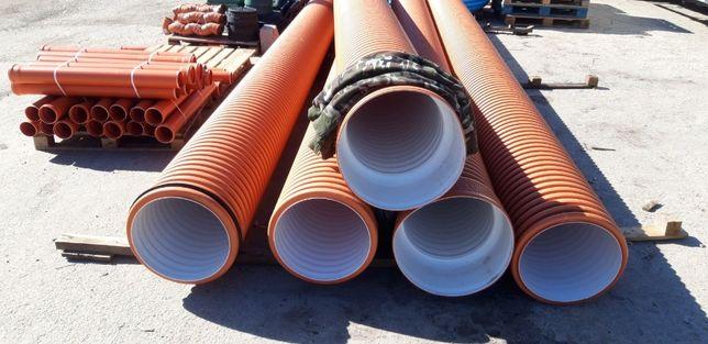 Трубы Ø110-1200 мм двухслойные гофрированные для ливневой канализации