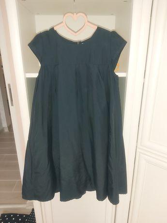 Синее платье можно для школы