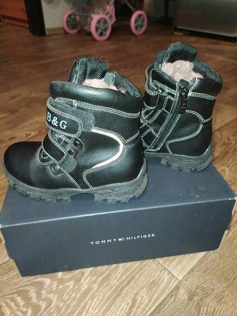 Ботинки для мальчика, кожа, зима, скидка