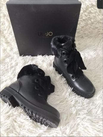 Ботинки кожаные черные демисезонные Liu Jo, Baldinini оригинал 36