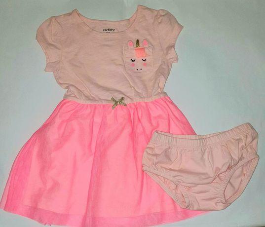 Новое нарядное красивое платье+трусики Carters 18-24 мес (86-92 см)
