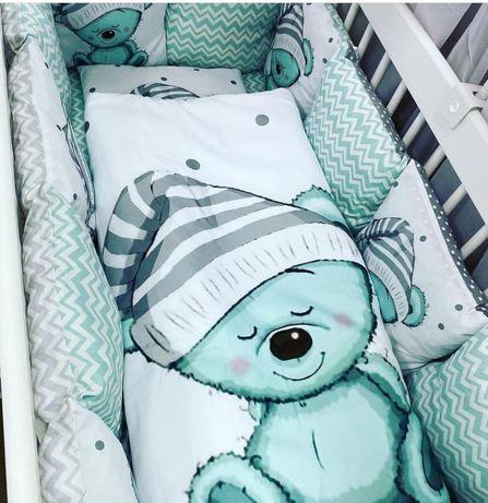 Постіль у ліжечко бортики комплект в кроватку