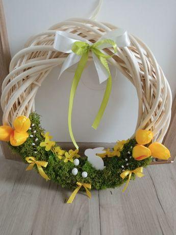 Wianek wiklinowy Wielkanoc 40cm