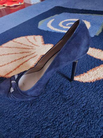 Туфли Calipso,замш нат,синие