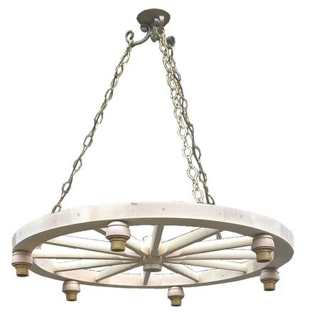 Żyrandol lampa koło drewniane kolo wozu 92