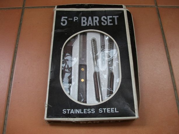 Conjunto para bar antigo em caixa ('como NOVO')