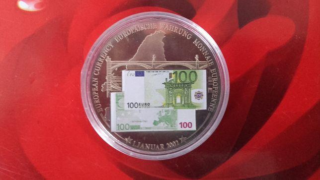 Medal waluta europejska 100 euro