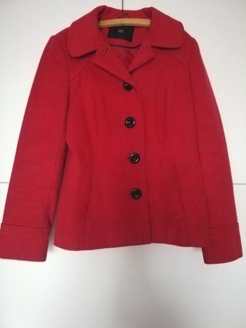 Płaszczyk jesienno- wiosenny, płaszcz, elegancka kurteczka czerwona S