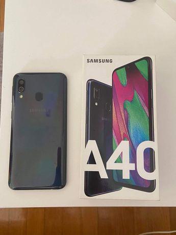 Samsung A40, preto