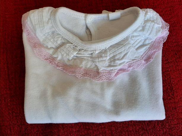 T-Shirt c/ Gola M. Comprida 12-24M