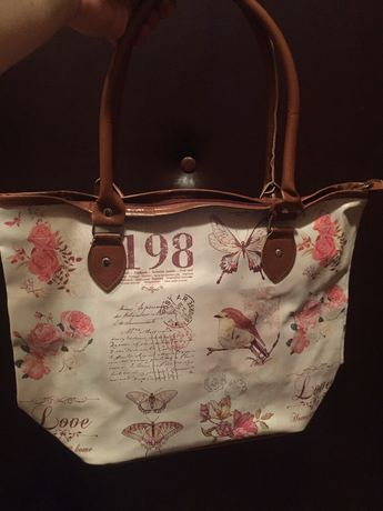 Wiosenna torebka + portfel nowe