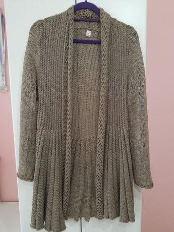 Dzianinowy sweter rozpinany/ kardigan
