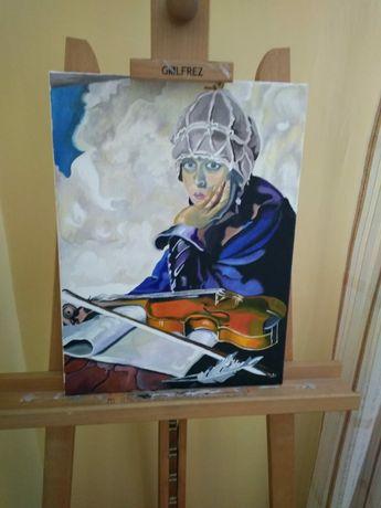 Obraz olejny, ręcznie malowany