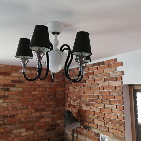 Lampa wisząca, żyrandol, czarno-biały