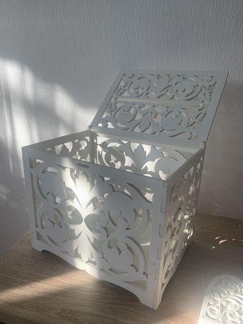 Свадебная Коробка под конверты и кольца