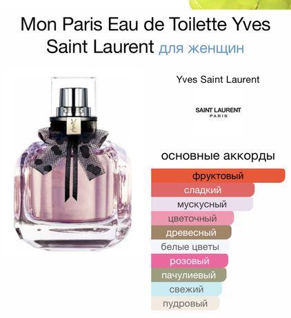 Туалетная вода Yves Saint Laurent Mon Paris