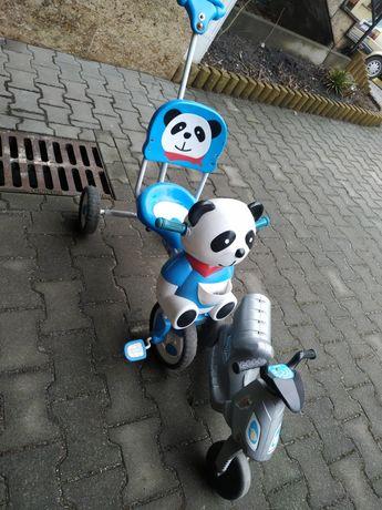 Panda i motorek dla dzieci