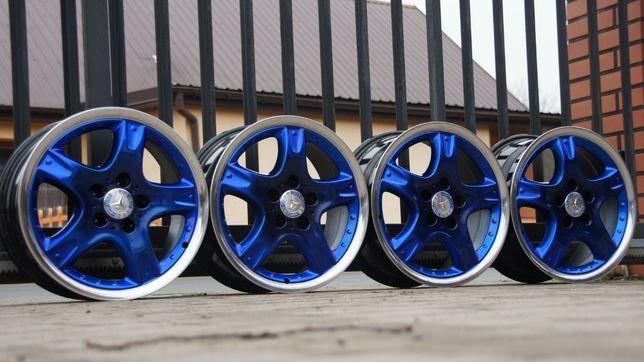 """Alufelgi Ronal Mercedes 7,5Jx17"""" et37 5x112 cb66,6 blue candy, polerka"""