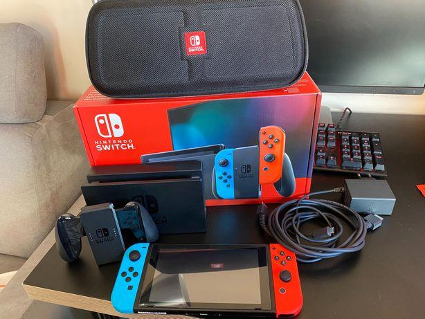 Konsola Nintendo Switch V2 GW 07.2022 r.  Karta256GB/Etui/Grip
