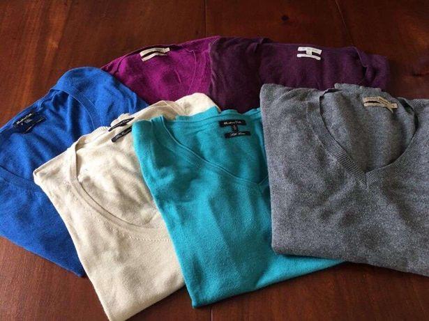 Camisolas de manga comprida/Pullover Massimo Dutti (Zara, Sacoor)
