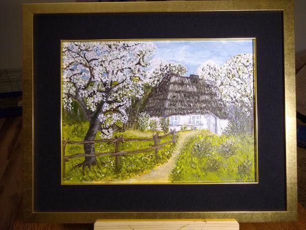 Obraz malowany ręcznie akrylami na płótnie