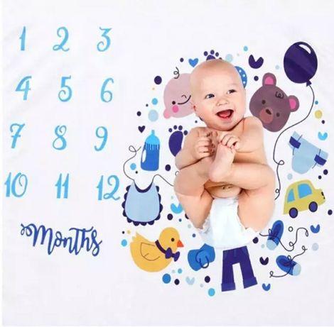 Фотофон с цифрами_фотопеленка для фотосессии по месяцам_подарок