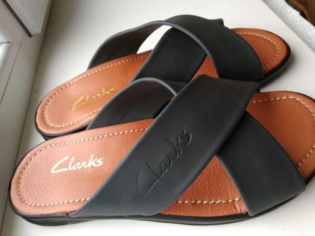 Кожаные шлепанцы Clarks
