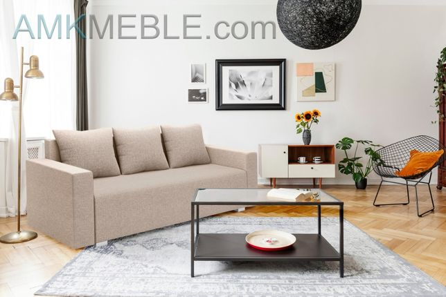 Tapczan, sofa trzyosobowa Marko, łóżko tapicerowane, promocja, Nowość