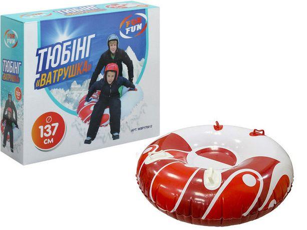 Надувные санки тюбинг For Fun Ватрушка 137 см от 7 лет