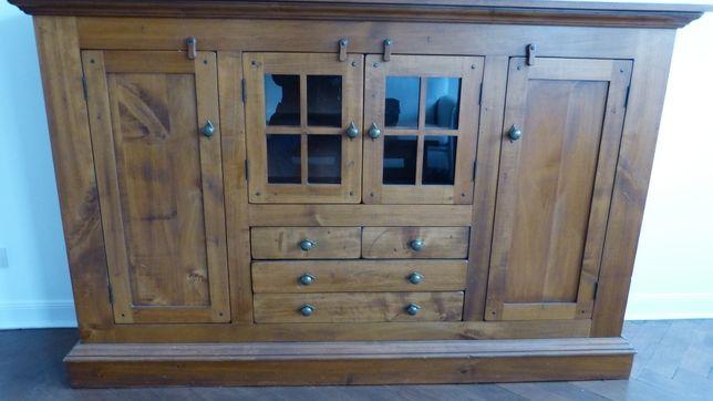 Bardzo ładne komody/witryny z pełnego drewna