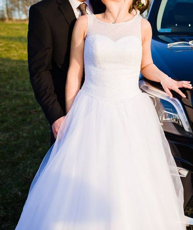 suknia ślubna AGNES 2015 CRYSTAL COLLECTION -model 14068 + WELON
