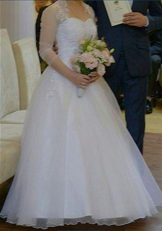 Przepiękna suknia ślubna ŚNIEŻNOBIAŁA