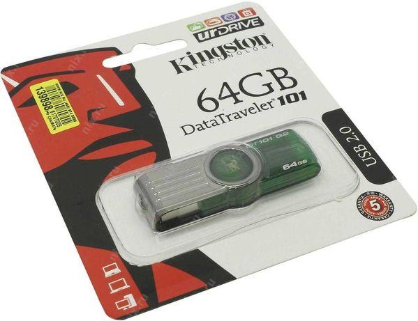 Накопитель Флешка Kingston 64гб USB 2.0 DataTraveler 101 Generation 2