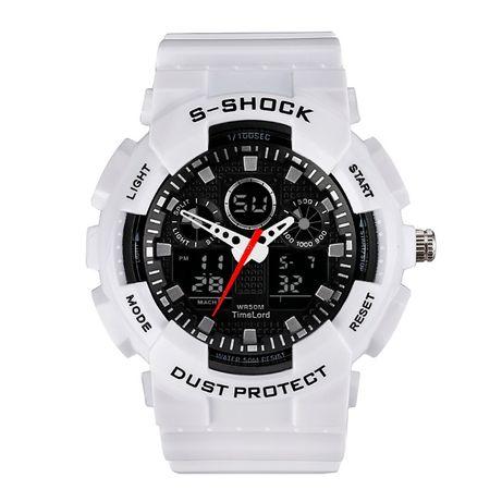 Męski zegarek w stylu G-SHOCK 3 kolory biały czerwony czarny SUPER